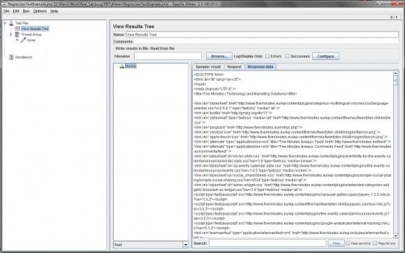 View Results Tree screenshot