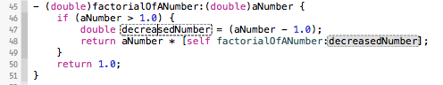 factorialOfANumber