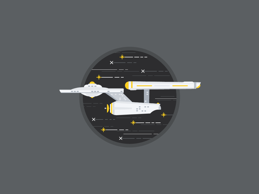 This illustration is the first step in my Dribbble journey.
