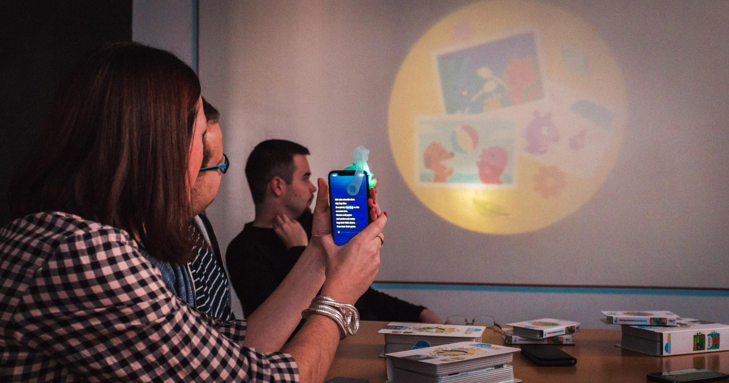Five team testing the Moonlite App